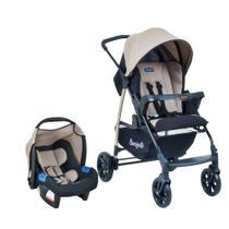 Carrinho de Bebê Travel System Burigotto Ecco + Touring Evolution Se Cappuccino -