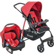 Carrinho de Bebê Travel System Burigotto Ecco + Touring Evolution Se Red -