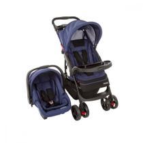 Carrinho de Bebê Travel System Cosco 4 Rodas 3 Posições Suporta Crianças de Até 15Kg -