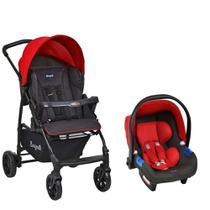 Carrinho de Bebê Travel System Ecco Vermelho - Burigotto -