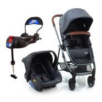 Carrinho de Bebê Travel System Epic Lite Duo Infanti Grey Vintage (Detalhes em Couro) -