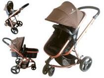 Carrinho De Bebê Travel System Evolution Bronze Color Baby 3 Em 1 -