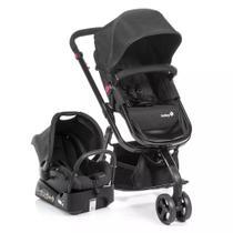 Carrinho De Bebê Travel System Mobi - Safety Full Black -