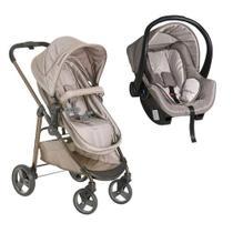 Carrinho de bebê Travel System Olympus Cappuccino + Bebe Conforto Cappuccino - Galzerano -