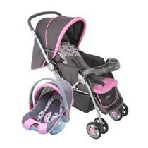 Carrinho de bebê Travel System Reverse Cosco Rosa (Carrinho+Bebê Conforto) Dorel -