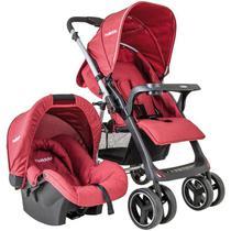Carrinho de Bebê Travel System Zap + Nest Melange Vermelho Kiddo -