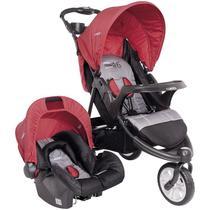 Carrinho de bebê tríciclo berço passeio travel system fox vermelho kiddo -