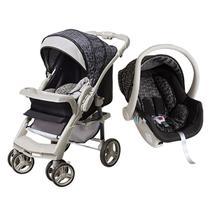Carrinho De Bebê TS Optimus Preto/Cinza com Bebê Conforto - Galzerano -