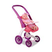 Carrinho de Boneca 2 em 1 para Criança Brincar de Passeio Tipo Baby Alive - Samba Toys