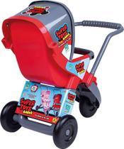 Carrinho de Boneca 3 Rodas Vermelha Super Toys -