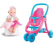 Carrinho De Boneca Baby Alive + Boneca Bebê Real Menina - Divertoys