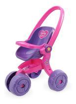 Carrinho De Boneca Baby Love Alive Rosa - Usual Brinquedos -