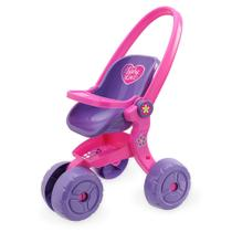 Carrinho de boneca baby love - usual brinquedos -