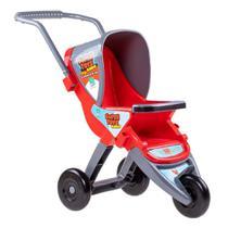 Carrinho De boneca Bebe 3 Rodas Infantil Vermelho Super Toys -