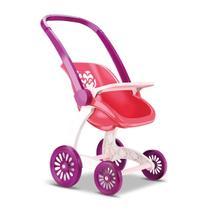 Carrinho de Boneca Bebê Infantil Confort Baby 2 em 1 Passeio - Samba Toys