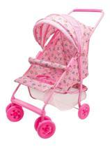 Carrinho De Boneca Bebê Milano Luxo Rosa Reborn - Brinquedos Oliveira