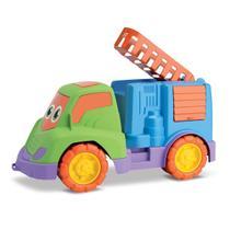 Carrinho De Brinquedo Tchuco Bombeiro Bebê Menino Samba Toys -