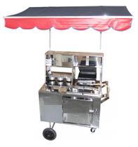 Carrinho De Cachorro Quente Hot Dog Lanches Chapa Inox - Kit Cars Comércio De Máquinas