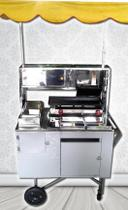 Carrinho De Cachorro Quente Lanches Chapa Dupla - Kit Cars Comércio De Máquinas