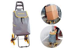 Carrinho de carga 3 rodas climbing cart 40KG sobe escadas GlobalMix GT082 - Global Mix -