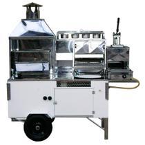 Carrinho de Churrasco, HotDog, Pastel, Batata Frita e Lanche (Modelo 5 em 1) inox cod 1715 - R2 -