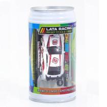 Carrinho De Controle Lata Racing Branco Com Vermelho DTC -