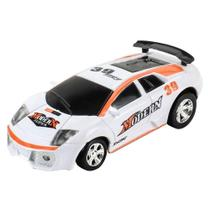 Carrinho De Controle Lata Racing Branco Dtc -