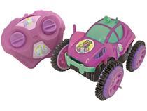 Carrinho de Controle Remoto Barbie Glamour Flip - 3 Funções Candide Rosa