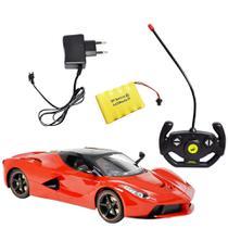 Carrinho De Controle Remoto Ferrari Com Bateria Recarregável - Dm Toys