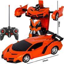 Carrinho de Controle Remoto que vira Robo Car Titanium laranja - Artbrink