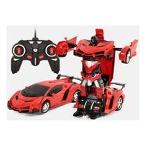 Carrinho de Controle Remoto que vira Robo Car Titanium vermelho - Artbrink