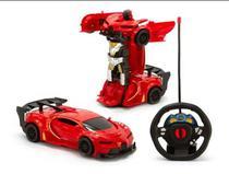 Carrinho De Controle Remoto Robô Changebot Red Polibrinq -