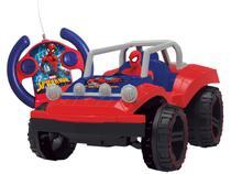 Carrinho de Controle Remoto Spider-Man Buggy Hero - 7 Funções Candide Vermelho e Azul