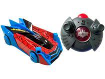 Carrinho de Controle Remoto Spider-Man - Web Climber 7 Funções Candide Vermelho