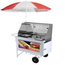 Carrinho de Hot Dog Armon Luxo com Rodas Maciças -