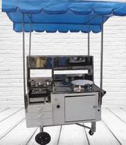 Carrinho de Hot Dog Lanches Pastel Batata - 4 em 1 - Kit Cars Comércio De Máquinas
