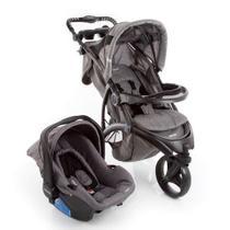 Carrinho de Passeio 3 Rodas Off Road Travel System com Bebê Conforto Grey- Infanti -