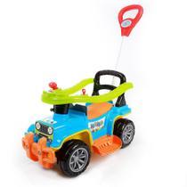 Carrinho De Passeio Criança Infantil Com Empurrador Quadriciclo Jip Jip Maral Colorido -