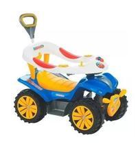 Carrinho De Passeio Infantil Andador Azul com Empurrador - Biemme