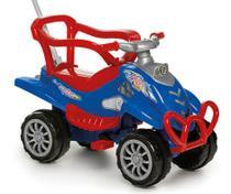 Carrinho de Passeio Infantil com Empurrador e Pedal Bebê Cross Turbo Azul - Calesita -