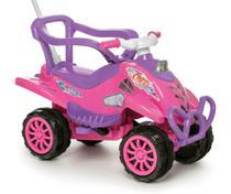 Carrinho de Passeio Infantil com Empurrador e Pedal Bebê Cross Turbo Rosa - Calesita -