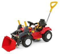 Carrinho De Passeio Ou Pedal Infantil Trator Politractor Com Concha - Poliplac -