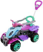 Carrinho De Passeio/Pedal Infantil Com Empurrador Criança - Ice Frost - Maral -