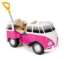 Carrinho De Passeio/Pedal Infantil Policar Com Empurrador Criança - Kombus - Poliplac -