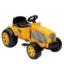 Carrinho De Passeio Pedal Trator Farmer Amarelo - Biemme