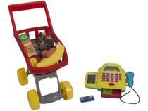 Carrinho de Supermercado de Brinquedo Mini Market - 10 Peças Xplast