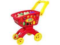 Carrinho de Supermercado de Brinquedo - Super Market Braskit com Acessórios