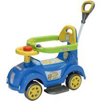 Carrinho e Andador Azul Baby Car para Bebê com Empurrador Biemme -