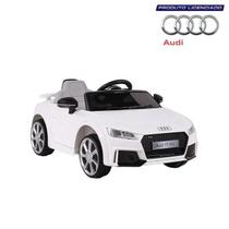Carrinho Elétrico Audi Tt Rs Belfix Controle Remoto Branco -
