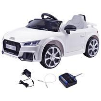 Carrinho Elétrico Infantil Audi TT Branco 12 Volts Com Controle Belfix -